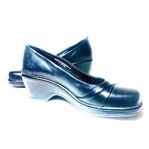 Dansko Black Leather Heels Pumps EUR 39 USA 9